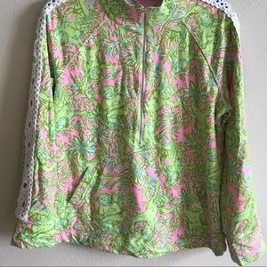 EUC Lilly Pulitzer Skipper pullover, Chimply Chic